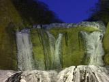 凍結の袋田の滝