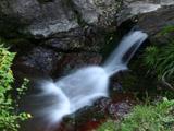 秩父の華厳の滝の近くの清流