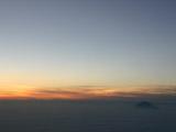 空からの夕焼け