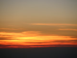 飛行機からの夕焼け