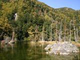 明神池の紅葉2