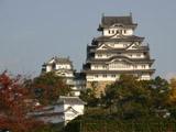 紅葉と姫路城