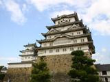 備前丸の松と白鷺城