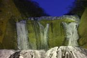 ライトアップの袋田の滝2