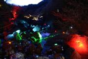 袋田の滝下流のライトアップ