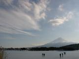 凍結した河口湖2